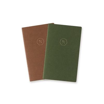 18 HALF DIARY set_green brown