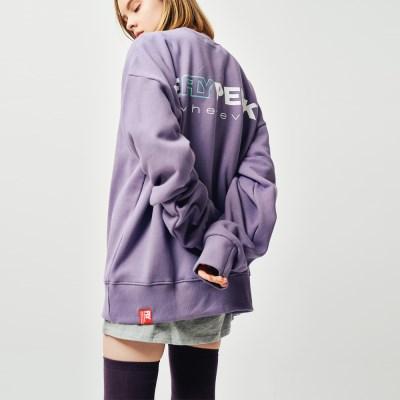 [UNISEX](기모) 웨어에버 헤비코튼 오버핏 스웻셔츠 (Purple)