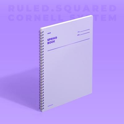 [모트모트] 스프링북 컬러칩 - 바이올렛 (룰드/스퀘어드/코넬시스템)