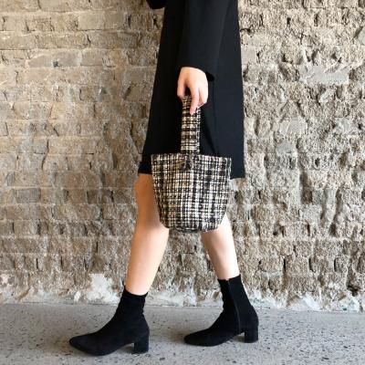 트위드토트백 Tweed tote bag - [BEIGE]