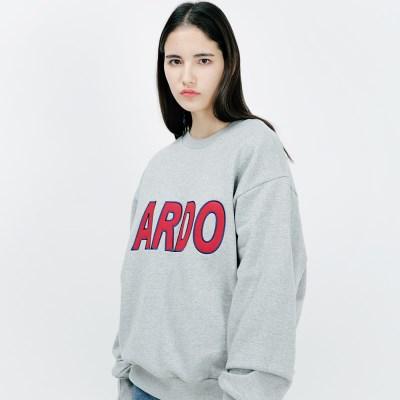 아더로브 ADRB LOGO 오버핏 맨투맨티 ACR183001-GR