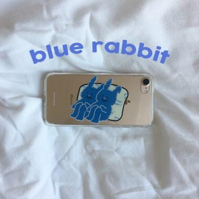 [뮤즈무드] blue rabbit (clear) 아이폰케이스
