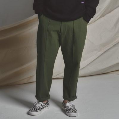 STG pintuck wide pants KHAKI