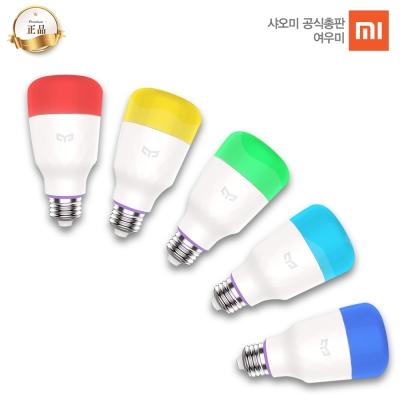 [공식총판] 샤오미 이라이트 스마트 LED 컬러전구 2세대