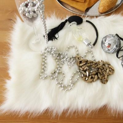 스노우 화이트 fur 테이블매트