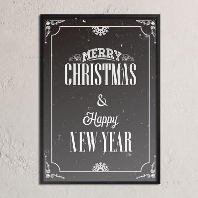 Merry christmas & happy new year_B - A2,A3,A4 인테리어 메탈액자
