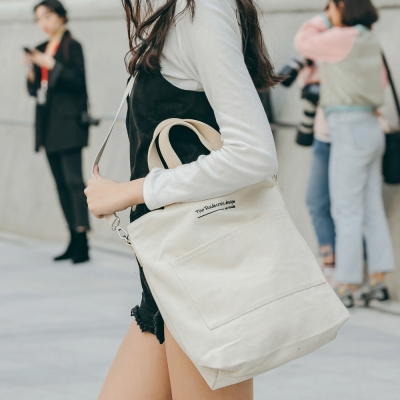 [로아드로아]CANVAS POCKET TOTE CROSS BAG (IVORY)_(904713)