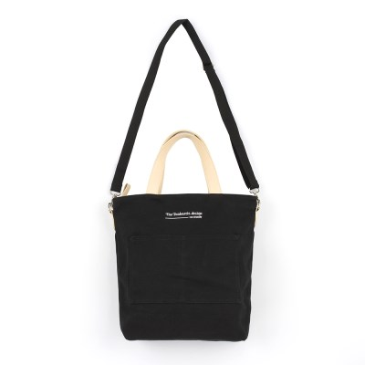 [로아드로아]CANVAS POCKET TOTE CROSS BAG (BLACK)_(904712)