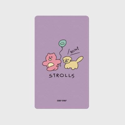 [어프어프]Strolls-purple 보조배터리 mah2500/mah5000