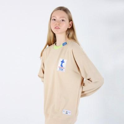 [TOi] TOKYO T로고 스웨트셔츠 베이지