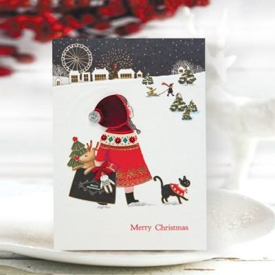 FS1029-5 크리스마스카드,트리,산타,성탄절,미니카드,루돌프