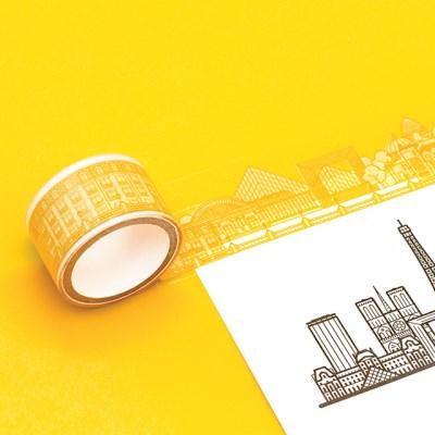 [럭키스] 시티 투명 데코 디자인 테이프 파리_(1449374)