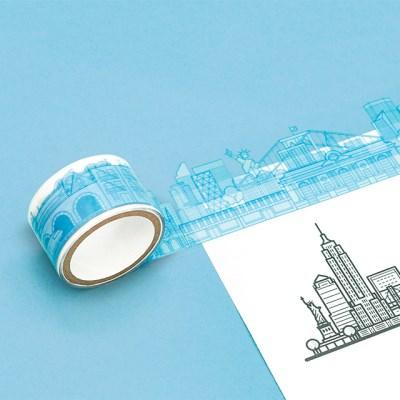[럭키스] 시티 투명 데코 디자인 테이프 뉴욕_(1449375)