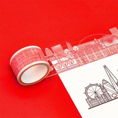 [럭키스] 시티 투명 데코 디자인 테이프 런던_(1449376)