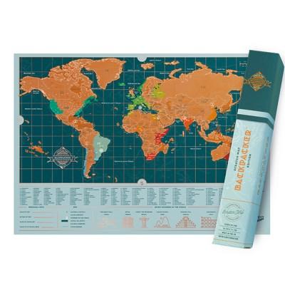 [럭키스] 영국 정품 스크래치 맵 세계지도 백팩커_(1449367)