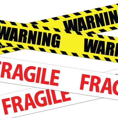 WARNING-FRAGILE 테이프