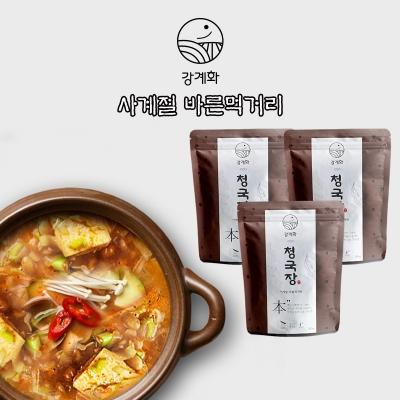충주 전통 맛집 강계화 콩/밤청국장 3팩 신선배송