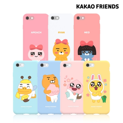카카오프렌즈 아이폰8plus 7plus 소프트젤리 케이스