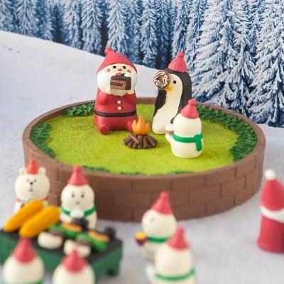 데꼴 크리스마스 벽돌 잔디공원 피규어