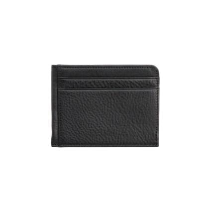 이태리 슈렁큰 소가죽 카드지갑(블랙)w16874