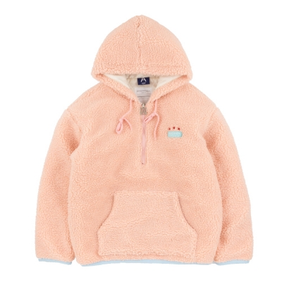 [어나더프레임] (누빔)FLEECE HALF ZIP UP HOODIE (PINK)_(908403)