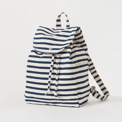 [바쿠백] 드로스트링 캔버스 백팩 Sailor Stripe_(1458619)