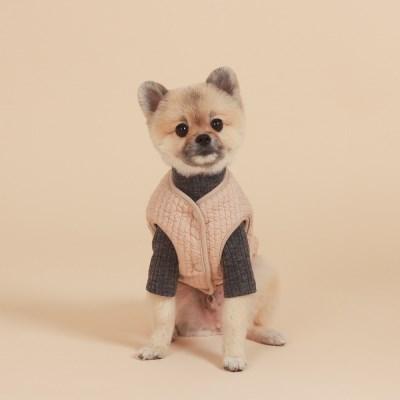 Reversible Vest / Beige & Pink beige