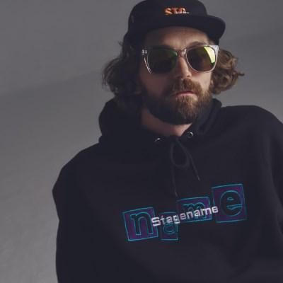 [기모]STG the name hoodie BLACK