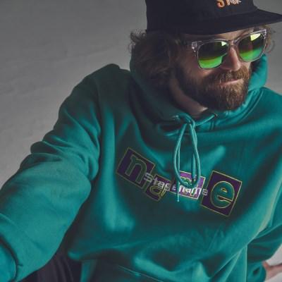 [기모]STG the name hoodie EM GREEN