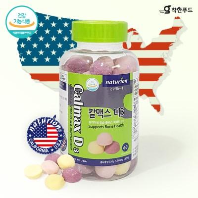 착한푸드 칼슘+인+비타민D 60정 x 1병