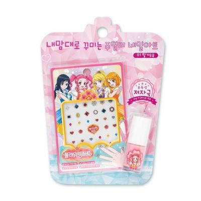 어린이화장품 플로릿 플라워링하트 주얼리 네일아트 키트 01딸기우유