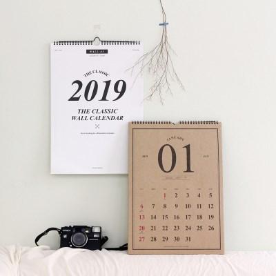 2019 워너디스 클래식 월 캘린더 (A3)
