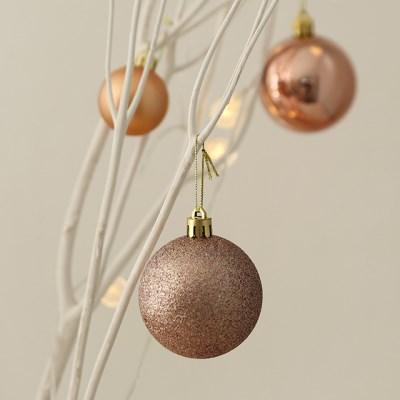 크리스마스 믹스볼 6cm (8개set) [2color]_(611381)