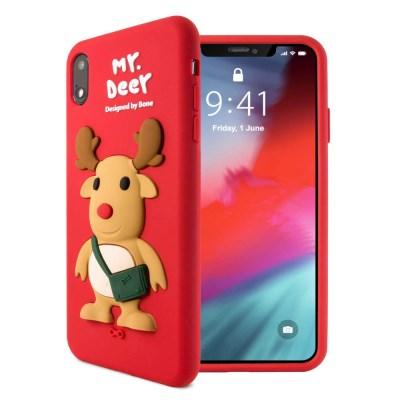 본컬렉션 큐케이스 사슴 아이폰 XR 실리콘 케이스