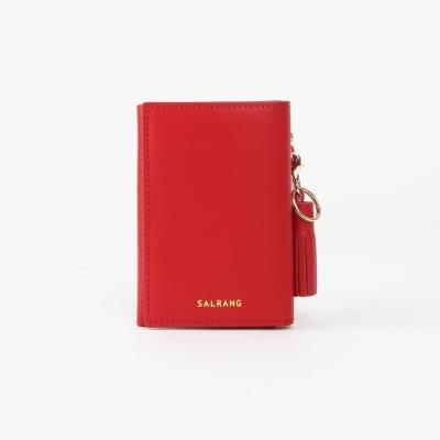 REIMS W014 Folder3 pocket Wallet Cherry Red