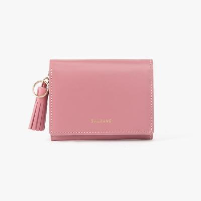 REIMS W015 Card Poket Wallet Rose Pink