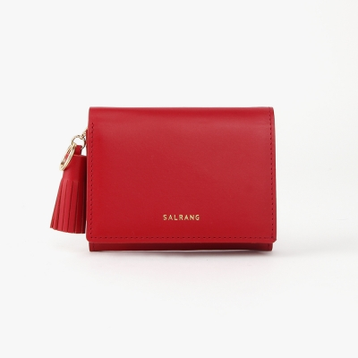 REIMS W015 Card Poket Wallet cherry red
