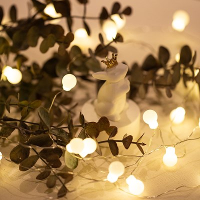 LED 미니앵두전구 전구색 건전지전구 2가지모드