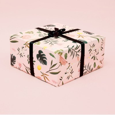 BOTANICAL WRAPPING PAPER - PINK