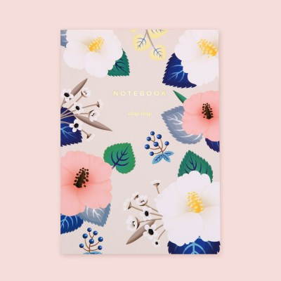 HIBISCUS NOTEBOOK – IVORY