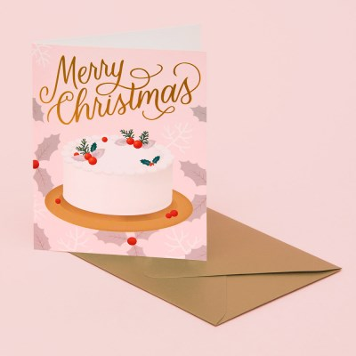 HOLIDAY DESSERT CARD - PINK