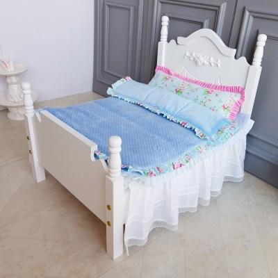 강아지 침대(화이트)