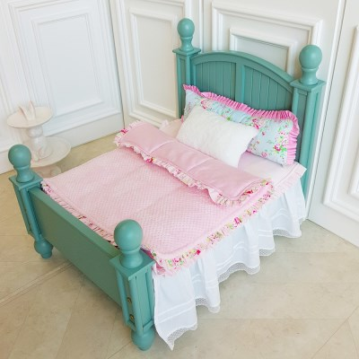 강아지 침대(민트)