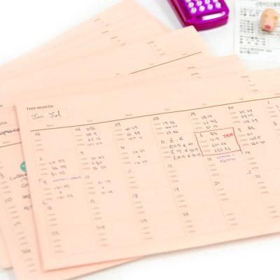 제이로그 한달가계부 영수증봉투 SET(10매)