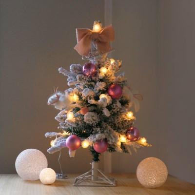 윈터 크리스마스 스노우트리 SET-핑크(60cm)