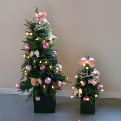 크리스마스 박스트리 SET-핑크 (120cm)