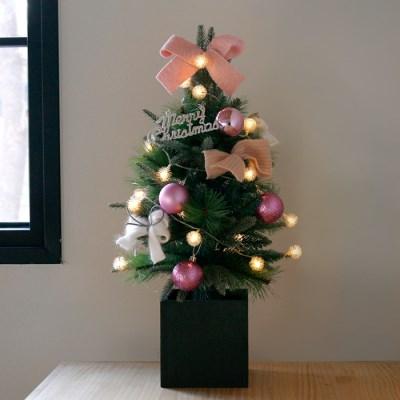 크리스마스 박스트리 SET-핑크 (60cm)