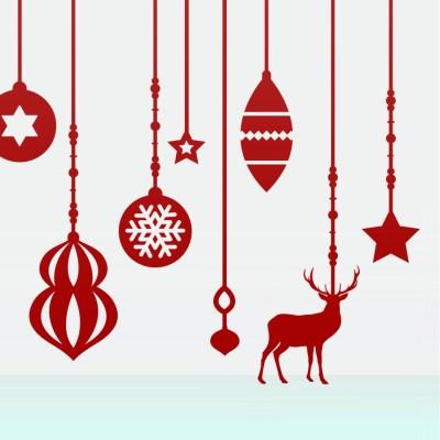 크리스마스 오너먼트 스티커 xms015
