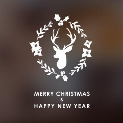 크리스마스 리스 스티커 xms011