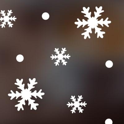 크리스마스 눈꽃 스티커 xms009